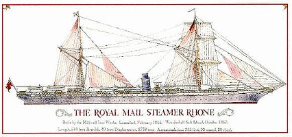 An Illustration of the Royal Mail Steamer Rhone Ship